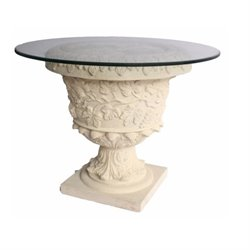 Anderson Teak French Pedestal Table in Natural Beige