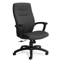 Global Synopsis High Back Tilter Office Chair in Black Coal