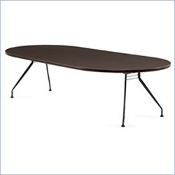 Global Alba 10x48 Racetrack Table in Dark Espresso