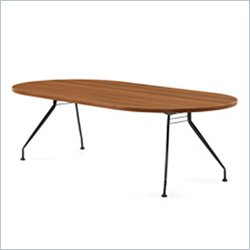 Global Alba 8x48 Racetrack Table in Avant Honey