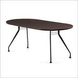 Global Alba 6x36 Racetrack Table in Dark Espresso