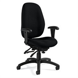 Global Malaga High Back Multi Tilter Office Chair in Black