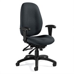Global Malaga High Back Multi Tilter Office Chair in Graphite