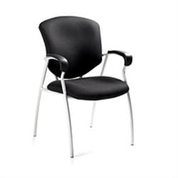 Global Supra Guest ArmGuest Chair in Black