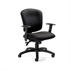 Global Supra X Medium Back Multi Tilter Office Chair in Black