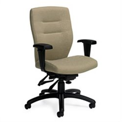 Global Synopsis Medium Back Multi Tilter Office Chair in Beach Day