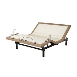 Blissful Nights Linen Adjustable Bed in Brown (BN1AB)