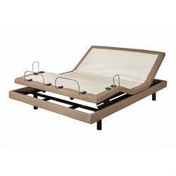 Blissful Nights Linen Adjustable Bed in Brown (BN3AB)
