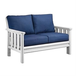 CR Plastic Stratford Patio Loveseat in White
