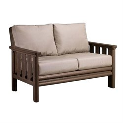 CR Plastic Stratford Patio Loveseat in Brown