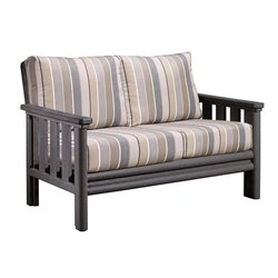 CR Plastic Stratford Patio Loveseat in Gray