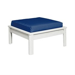 CR Plastic Stratford Large Patio Ottoman in White
