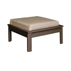 CR Plastic Stratford Large Patio Ottoman in Brown
