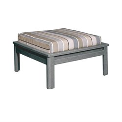 CR Plastic Stratford Large Patio Ottoman in Gray