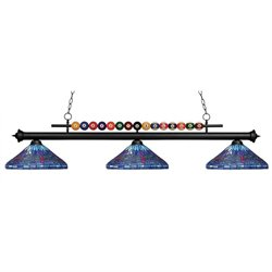 Z-Lite Shark 3 Light Billiard Light D16-1