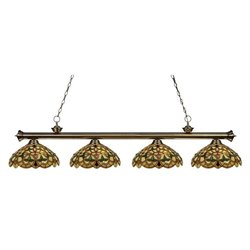 Z-Lite Riviera Billiard Light in Antique Brass AB-C14