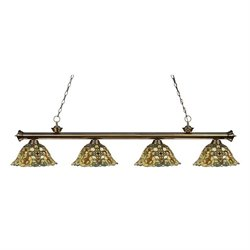 Z-Lite Riviera Billiard Light in Antique Brass AB-R14A