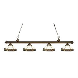 Z-Lite Riviera Billiard Light in Antique Brass AB-Z16-30