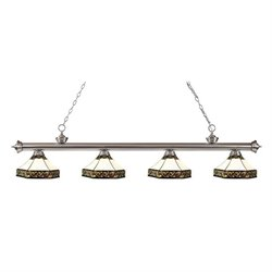 Z-Lite Riviera Billiard Light in Brushed Nickel BN-Z16-30