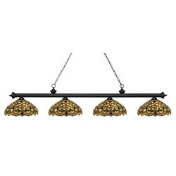 Z-Lite Riviera Billiard Light in Matte Black MB-C14