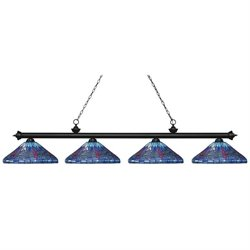 Z-Lite Riviera Billiard Light in Matte Black MB-D16-1