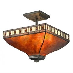 Z-Lite Crimson 3 Light Semi Flush Mount in Java Bronze