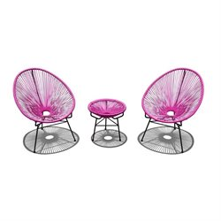 Harmonia Living Acapulco 3 Piece Patio Bistro  Set
