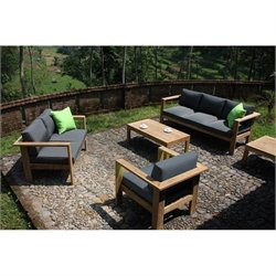 Harmonia Living Ando 4 Piece Patio Sofa Set