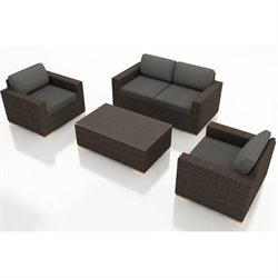 Harmonia Living Arden 4 Piece Outdoor Sofa Set HL-ARD-CH-4SS