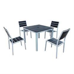 Harmonia Living Brasserie 5 Piece Square Patio Dining Set