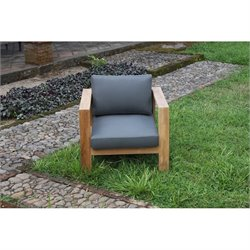 Harmonia Living Ando Patio Chair in Teak