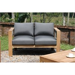 Harmonia Living Ando Patio Loveseat in Teak