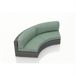 Harmonia Living District Curved Outdoor Sofa