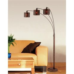 Cal Lighting Metal Arc Lamp in Rust