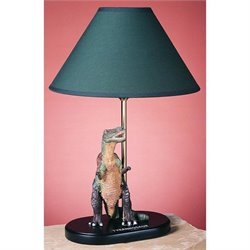 Cal Lighting Resin Kids Lamp in Green