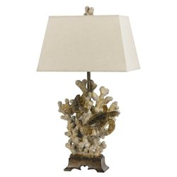 Cal Lighting Resin Table Lamp in Sand Stone