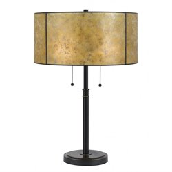Cal Lighting Metal Table Lamp in Dark Bronze