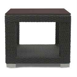 Patio Heaven Signature Square Patio End Table in Espresso