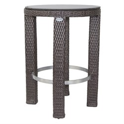 Patio Heaven Signature Round Patio Pub Table in Espresso