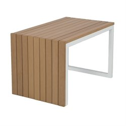 Patio Heaven Riviera Patio End Table in Teak