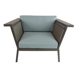 Patio Heaven Riviera Patio Chair in Gray