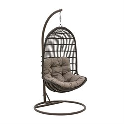 Patio Heaven Signature Patio Swing Chair in Espresso