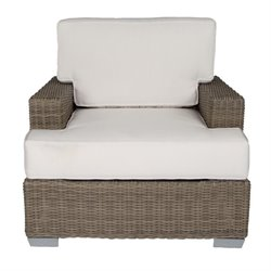 Patio Heaven Palisades Patio Chair in Gray