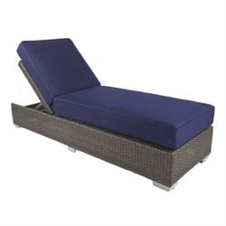 Patio Heaven Signature Patio Chaise Lounge in Espresso