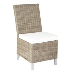 Patio Heaven Palisades Patio Dining Chair in Gray