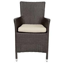 Patio Heaven Malibu Patio Dining Chair in Brown
