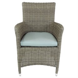 Patio Heaven Malibu Patio Dining Chair in Gray