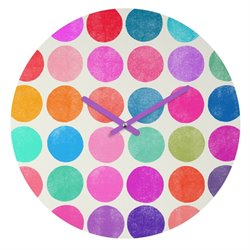 Deny Designs Garima Dhawan Colorplay 8 Round Clock