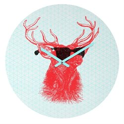 Deny Designs Nick Nelson Young Buck Round Clock