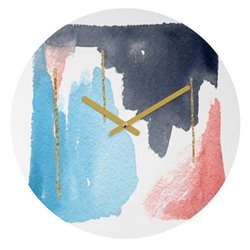 Deny Designs Social Proper Moving Mountains Round Clock